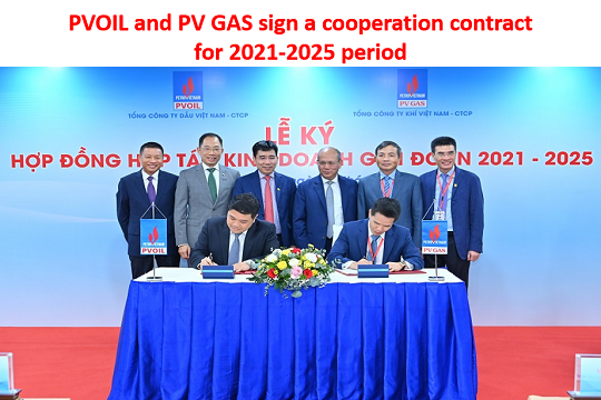 PVOIL and PV GAS sign a cooperation contract for 2021-2025 period