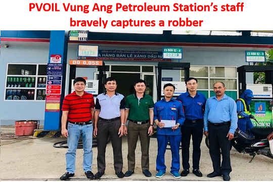 PVOIL Vung Ang Petroleum Station's staff bravely captures a robber