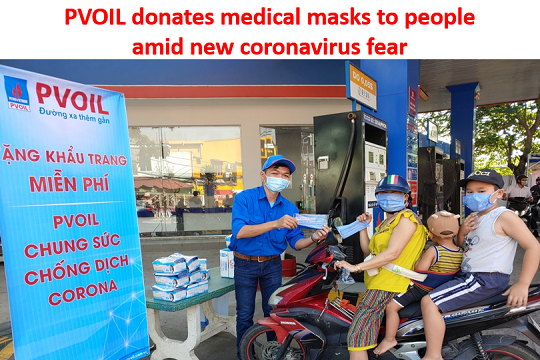PVOIL donates medical masks to people amid new coronavirus fear