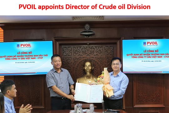 PVOIL appoints Director of Crude oil Division