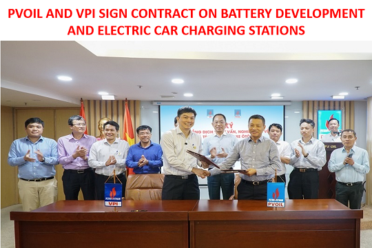 PVOIL and VPI sign contract on battery development and electric car charging stations