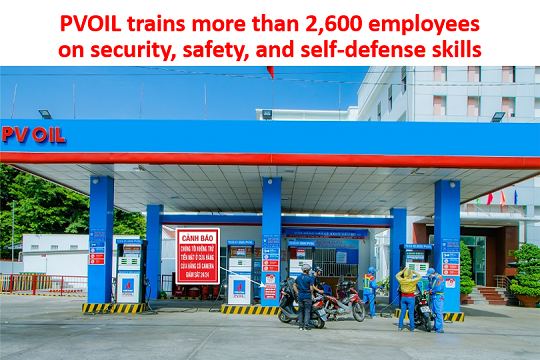 PVOIL trains more than 2,600 employees on security, safety, and self-defense skills at petroleum stations