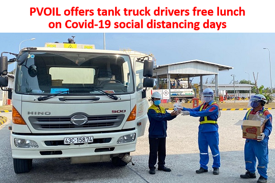 PVOIL offers tank truck drivers free lunch on Covid-19 social distancing days