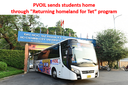 "PVOIL sends students home through ""Returning homeland for Tet"" program"