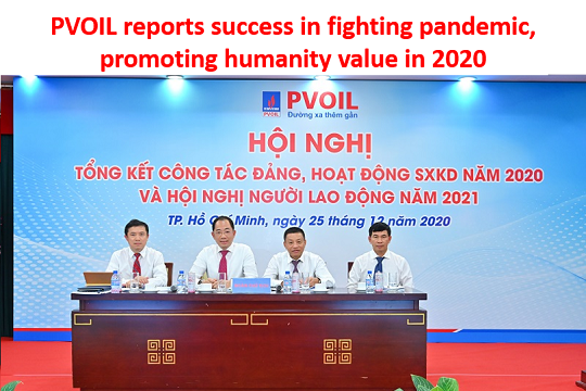 PVOIL reports success in fighting pandemic, promoting humanity value in 2020