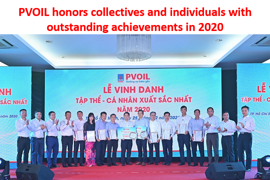 PVOIL honors collectives and individuals with outstanding achievements in 2020