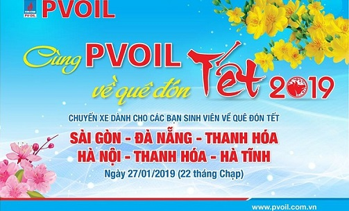 Together with PVOIL to return home to celebrate Tet