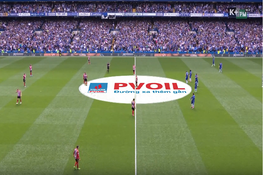 PVOIL brand is advertised on the TV signal of Premier League